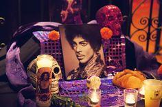 Prince altar, Dia de los Muertos Party, Jardines de San Juan