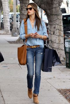Alessandra Ambrossio with a Hermes belt
