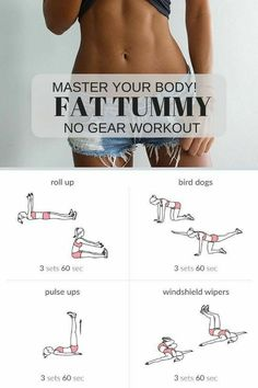 Fat tummy No gear workout for womens