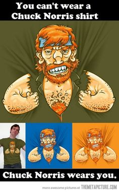 Chuck Norris shirt…
