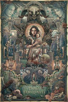 Pan's Labyrinth, by Ise Ananphada #iseananphada #panslabyrinthprint
