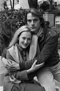 12 Oct London, England, UK --- Meryl Streep and Jeremy Irons, just prior to the release of The French Lieutenant's Woman. Female Actresses, Actors & Actresses, Beautiful Boys, Beautiful People, I Look To You, Famous Duos, Jeremy Irons, Nostalgia, New York Girls
