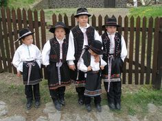 young lads in traditional Hungarian outfits