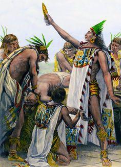 Para la coronación del rey azteca 80.400 corazones humanos fueron cortados en cuatro días