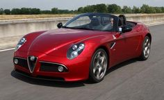 Alfa Romeo 8C Spider: My vote for the most beautiful car ever made.  Proud to have been an Alfisti.