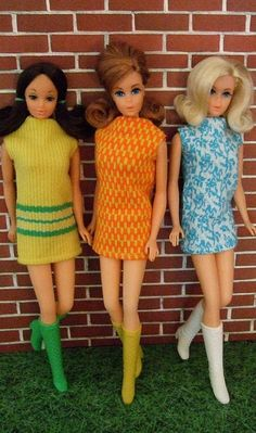 Mod Barbies in Dresses from Sears Glamour Group