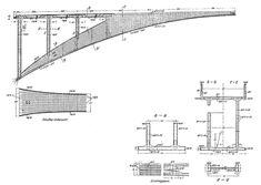 Drawings for the Salginatobel Bridge by Robert Maillart.