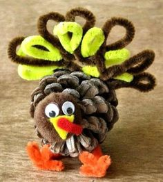 10 Thanksgiving Kids Craft & Decorations!! @Debbie Arruda Held Debbie Sue more pine one coolness!
