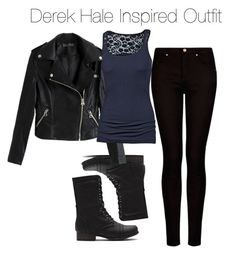 """Teen Wolf - Derek Hale Inspired Outfit"" by staystronng ❤ liked on Polyvore featuring MANGO, Fat Face, Boots, derekhale and tw"