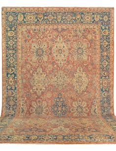 Sultanabad,14ft 8in x 20ft 2in, 2nd Quarter, 19th Century.  Entirely harmonious in palette and proportions, this very early palace size Sultanabad antique carpet from the 2nd Quarter of the 19th century offers village artistry on a grand scale.    View more palace size antique Persian rugs in our online gallery:  http://www.claremontrug.com/antique-oriental-rugs-carpets/?rg=7=0=7=
