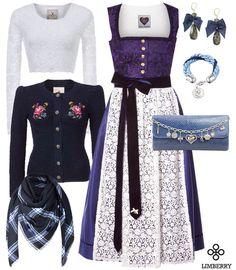 """Limberry - AlpenHerz gehört zu dem beliebtesten Trachten Labels und verzaubert jede Trägerin mit dem """"Katharina"""" Dirndl in Blau!"""