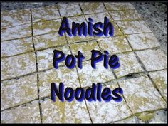In this recipe video I show you how to make Amish beef and chicken pot pie from start to finish. The homemade pot pie noodles are doughy, eggy, rich and deli. Chick Pot Pie Recipe, Pa Dutch Chicken Pot Pie Recipe, Ham Pot Pie, Beef Pot Pies, Pa Dutch Pot Pie Dough Recipe, Amish Pie Crust Recipe, Pie Crust Recipes, Homemade Pot Pie, Homemade Dumplings