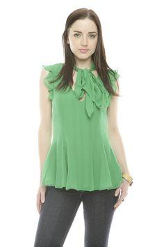 emerald flowy top