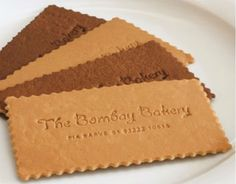 business cards that look like biscuits