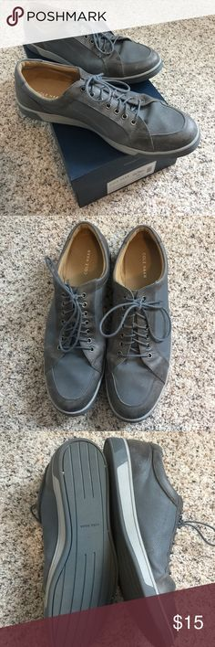 Cole Haan Vartan Sport Oxford Worn Several times, but still in good condition. Scratches & dirty.  PRODUCT INFORMATION: Made of leather and canvas upper. Lace-up closure. Rounded toe. Leather lining. Padded footbed. Rubber outsole. Cole Haan Shoes Oxfords & Derbys