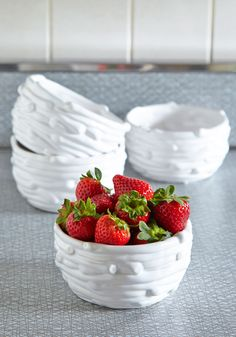 Styled and Wonderful Bowl Set. Let your passion for the outdoors soar by adding these nest-inspired bowls to your darling decor! #white #modcloth