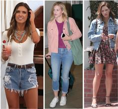 Celebrity Street Style of the Week: Audrina Patridge, Lili Reinhart, & Katharine McPhee. Get celeb looks for less, including Audrina Patridge's statement necklace, Lili Reinhart's pops of pink, and Katharine McPhee's floral and denim combo.