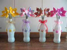 más y más manualidades: Reutiliza botellas de vidrio y conviertelas en bel...