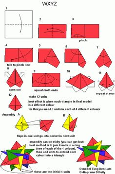 modular origami instructions - Google Search