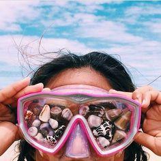 Beach day #seashells #goggles #tumblrquality #beach #fun #outdoors #tagforlikes #amazing