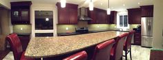 Kitchen renovation. Got to love red!