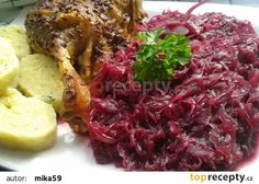 Karamelizované kysané červené zelí s brusinkami. recept - TopRecepty.cz Side Dishes, Cabbage, Food And Drink, Vegetables, Eat, Recipes, Foods, Fine Dining, Food Food