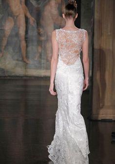 sleek lace back dress