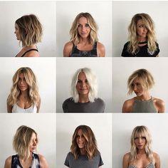 "840 curtidas, 26 comentários - Chris McMillan The Salon (@chrismcmillanthesalon) no Instagram: ""Bob ll Razor ll loose waves ll cut & style @marcostrueba_hair"""