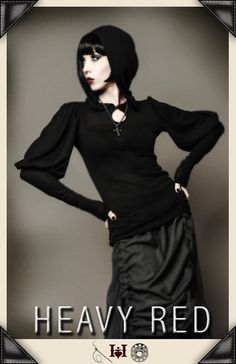 Pretty goth looking, but I love those sleeves!
