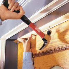 Stop energy-wasting air leaks around entry doors by installing a weatherstripping kit with a foam flange or vinyl bulb. Use a door sweep to seal the bottom of the door.