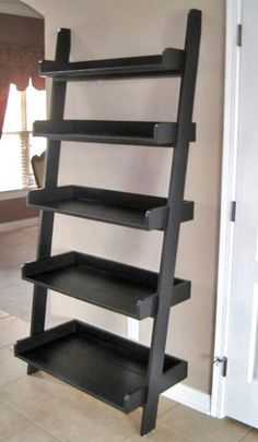 tutorial on building this leaning wall shelf