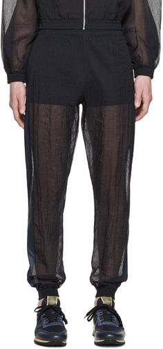 Cottweiler Navy Sheer Robe Lounge Pants