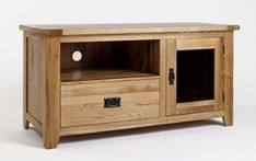 This elegantly designed television unit offers an incredibly practical storage option for your TV and DVD player. The cabinet features a large surface for the TV, while a shelf below is suitable for storing a DVD player or a games console. A large cut-out in the back of the cabinet allows for cables to run from the TV to DVD unseen, providing an excellent solution to the problem of messy cables. Only £315.