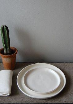 handmade stoneware plates