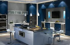 This is my ideal kitchen equipped with all Electrolux appliances Small House Interior Design, House Design, 3d Home Design Software, Modern Kitchen Island, Kitchen Photos, Maker, Grills, Kitchen Interior, Kitchen Appliances