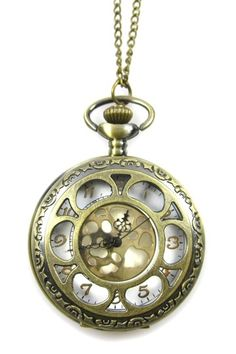 Pocket Watch Necklace $17