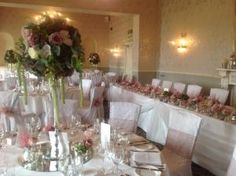 Wedding Table Floral Designs