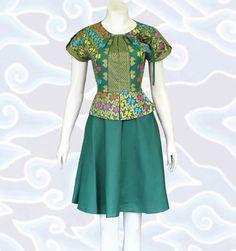 baju modern batik dress wanita dm88 hijau motif prodo lebih lengkap di http://senandung.net/baju-dress-batik-modern/