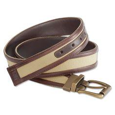 Mens Leather Belt - Heritage Leather-Cotton Web Belt -- Orvis on Orvis.com!
