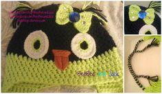 Go Seahawks! Custom crochet owl hat. Find more like this at www.etsy.com/shop/BeeBeeandJack