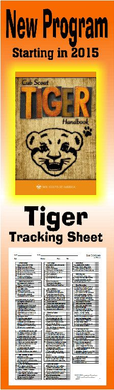 Need a way to track * TIGER requirements for the NEW Cub Scout Program? This is a great free PRINTABLE Tracking sheet for Organizing. This site has other tracking sheets and a lot of great Cub Scout Ideas compliments of Akelas Council Cub Scout Leader Training. Utah National Parks Council has planned this exciting 4 1/2 day Cub Scout Leader Training that covers lots of Cub Scout Info and Webelos Outdoor Experience, and much more. For more info go to AkelasCouncil.com
