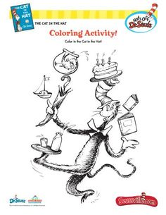 The Cat In Hat Coloring Activity