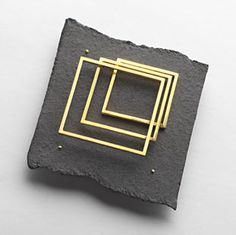 Brooch | Renzo Pasquale.  Gold and Aluminium