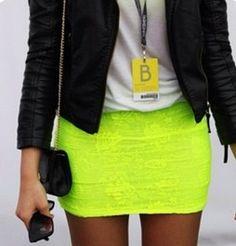 Neon Green Tight Skirt