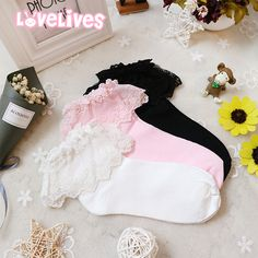 Japanese Accessories Online Store Socks on Mori Girl の森ガール.Japanese Girly Lace Cotton Socks Lolita All Match Anklet Mg504 is a must to make an amazing outfit. You can wear it in any occasion - school, office, dates, and parties.