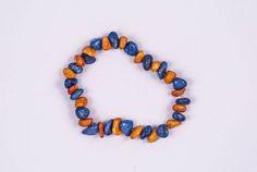 Fan's Favorite Mix ORANGE & BLUE QUARTZ Chip Bracelet  #Bracelets