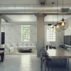 Living Room Design, Industrial Loft Design: Designing Home With Industrial Style