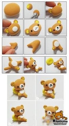 Rilakkuma polymer clay tutorial