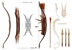 Rivendell Bow - The Hobbit, part I - A selection of concept design from the first installment of The Hobbit: An Unexpected Journey, Chronicles: Art and Design - The Art of Nick Keller