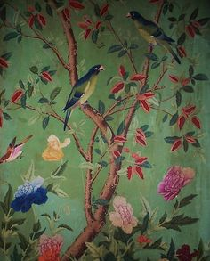 Chinoiserie 5 Newer Older Hand-painted Chinese wallpaper at Abbortsford House Chinese Wallpaper, Bird Wallpaper, Fabric Wallpaper, French Wallpaper, Victorian Wallpaper, Painted Wallpaper, Cheap Wallpaper, Botanical Wallpaper, Bedroom Wallpaper